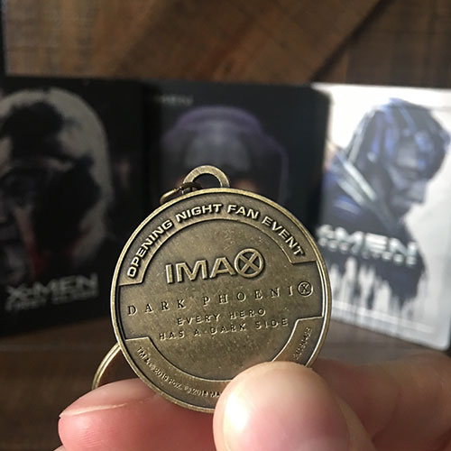 X-Men Bluray Collection - X-Men: Dark Phoenix - Collector's keychain from IMAX showing