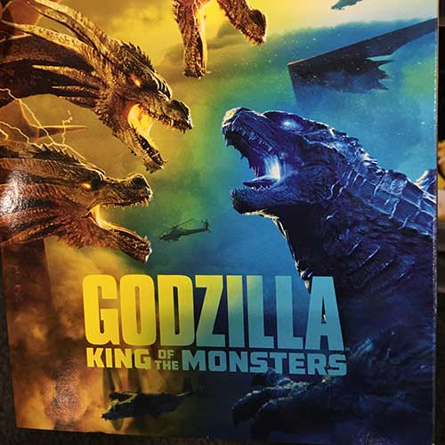 Godzilla King of the Monsters movie DVD case